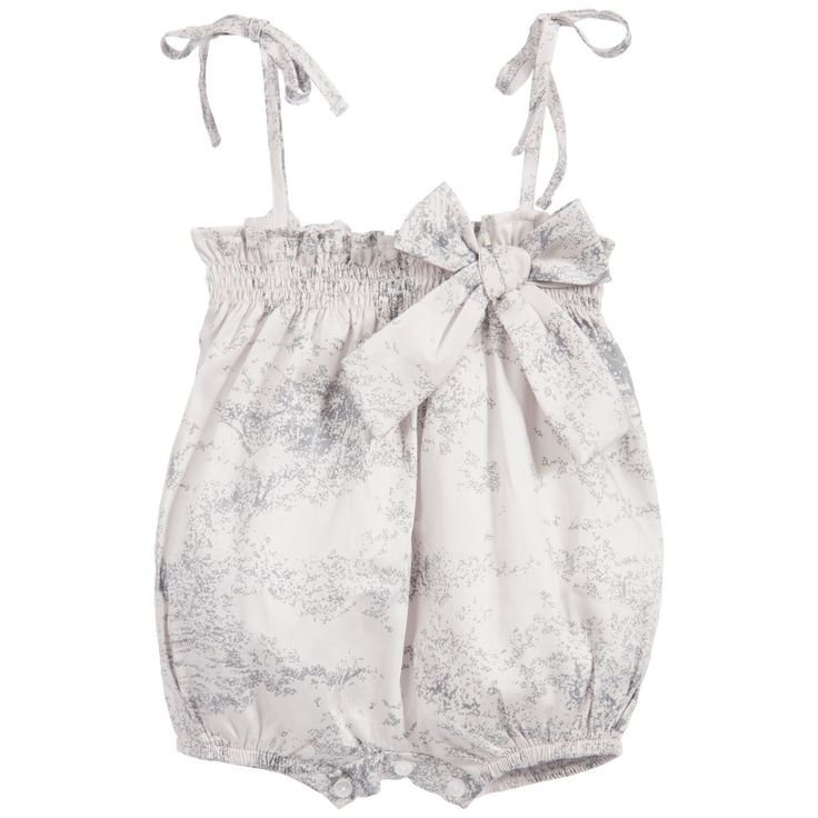 Babidu Baby Girls Grey Speckled Shortie with Bow at Childrensalon.com