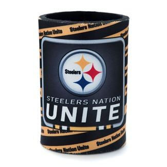 Show details for Steelers Nation Unite (SNU) Striped Can Coolie