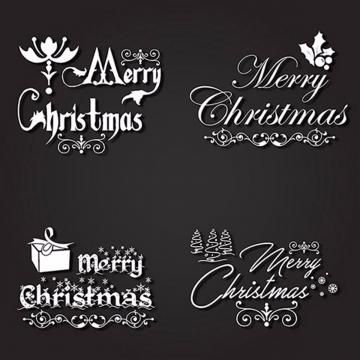 black, white, typography, text, christmas, logo, background, card ...