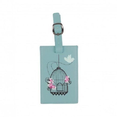 VIDA Leather Accent Tag - BLUE SASS TAG by VIDA