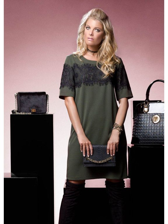 CASUAL CHIC #2 >> Overknee boots, lace dress, black clutch, bags, outfit