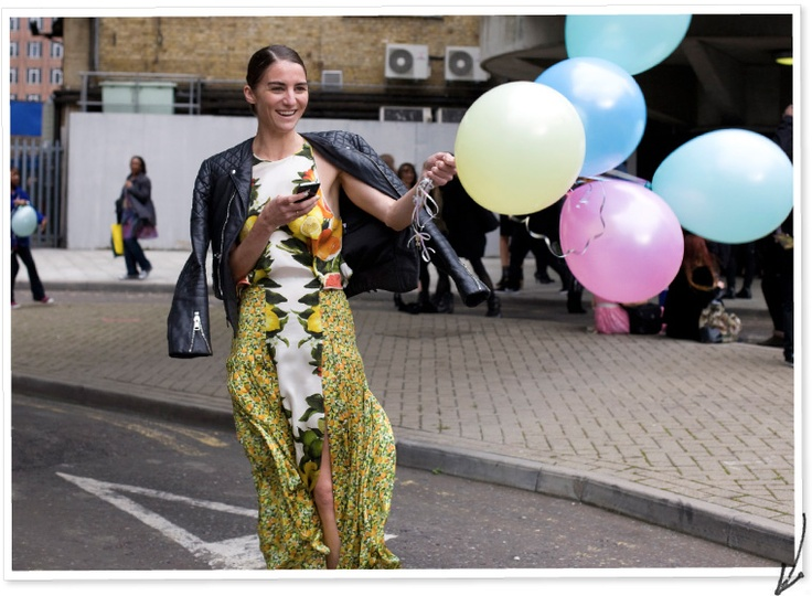 London stylist Celestine Cooney photographed by Street Peeper.: Fashion Street Styles, Celestine Cooney, Fashion Week, Camera, Jackets, Stella Mccartney Dresses, Fashion Inspiration, Balloons