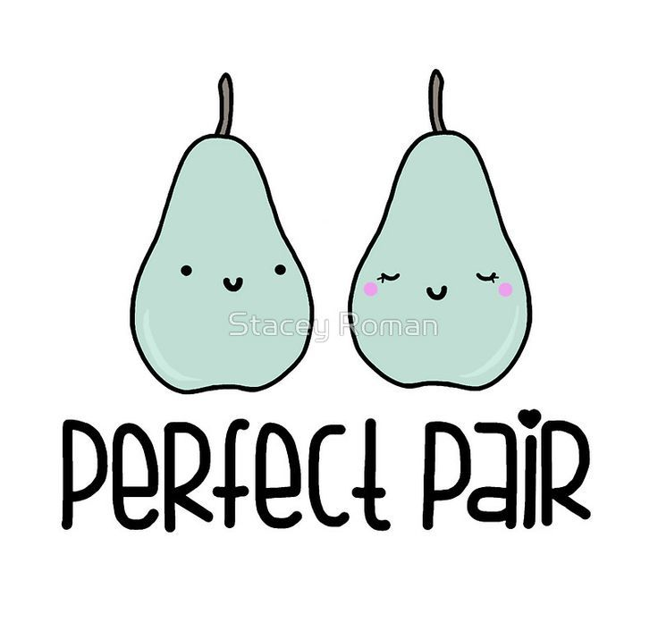 Perfect Pair, pear, pun, food, punny, food puns, cute, love, sweet ...