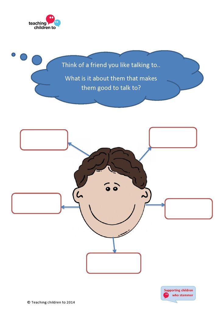 Ask children to say what makes a friend good to talk to  - it helps them realise that no-one thinks of fluency when they think of what makes them want to talk to someone!