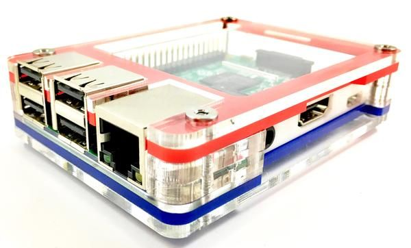 Freedom Pi in Honor of Independence Day! ~ for Raspberry Pi 3, Pi 2, Pi B+ and Pi 2B  C4Labs' first Limited Edition Case