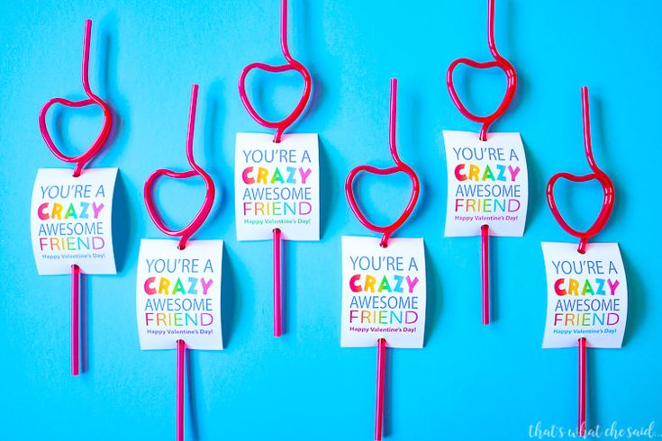I am a huge fan of non-candy valentine ideas as our school doesn't allow candy!  These Crazy Straw Valentine Cards are perfect for kids to pass out at school parties! I invite you to check out all my free printable valentine cards!  There is something for everyone there!  I enjoy making these! Crazy straws are always a kid favorite!  I mean who doesn't love to drink through a crazy straw!  I tried to make these more about friendship than about love.  It helps for my boys who are getti...