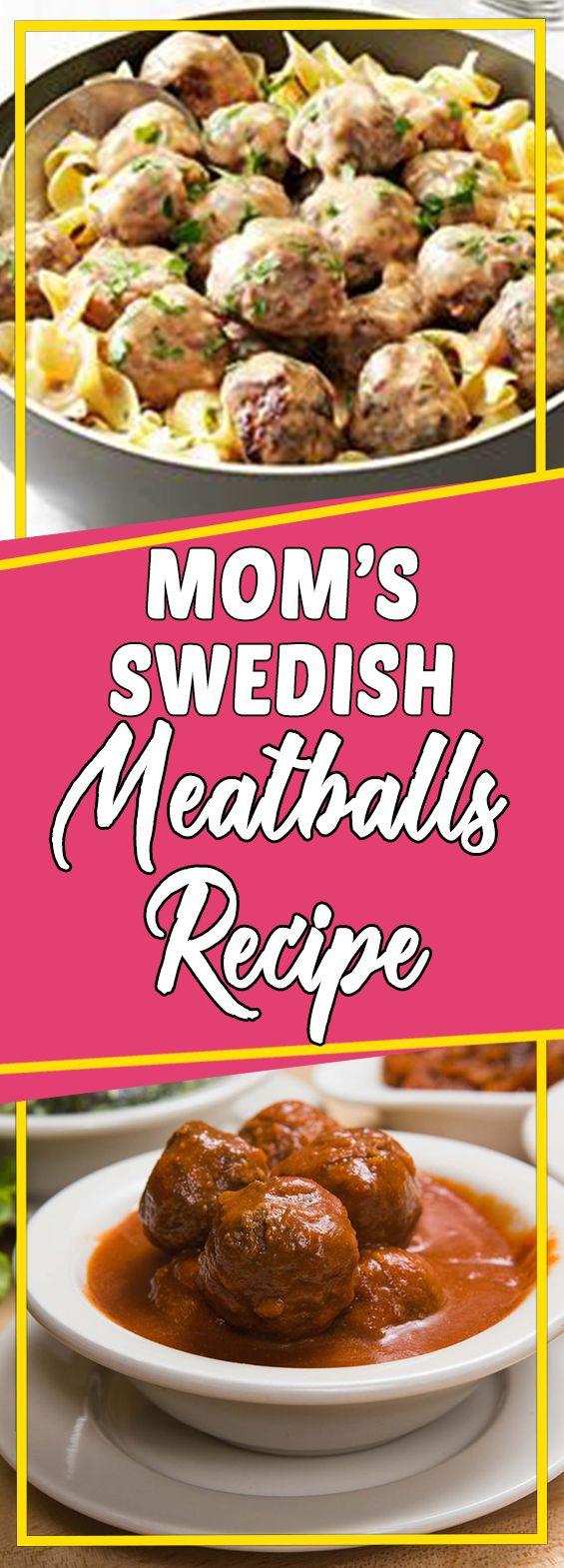 Mom's Swedish Meatballs Recipe #breakfast #recipeideas #cookinglight #dinner #breakfastrecipes #lunch
