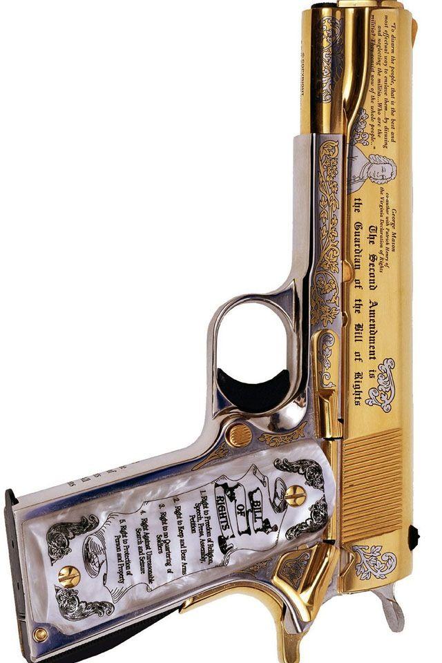 Pretty sweet: 2nd Amendment pistol.
