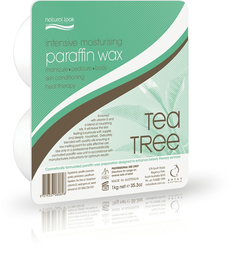 Our intensive moisturising tea tree paraffin wax is a manicure pedicure body skin conditioning heat therapy. Acts as a natural antiseptic to treat fungal problems and other hand and foot ailments. Cosmetically formulated paraffin wax preparation designed to enhance beauty therapy services. Enriched with vitamin E and a blend of nourishing oils, it will leave the skin feeling luxuriously soft, supple and deeply nourished. 1 Kg