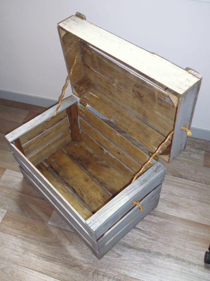 Coffre caisse palette diy caisse coffre jeux id es pinterest bricolage - Combien de parpaing sur une palette ...