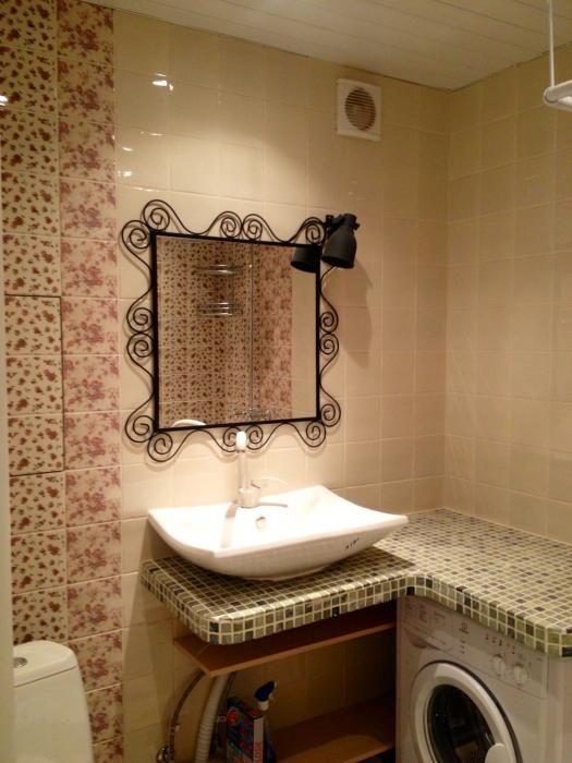 Квартира в стиле прованс, плитка прованс в ванной комнате