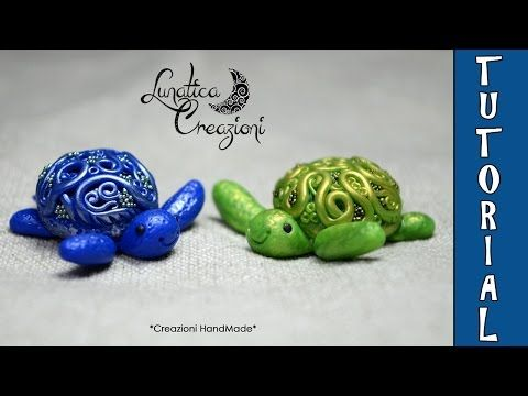 Sea Turtle with glass gem polymer clay tutorial