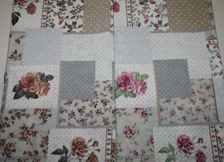 Tessuto Cotone Doppio ROSE Floreale Romantico ROSA MARRONE 2.80 x 2.80 mt Shabby