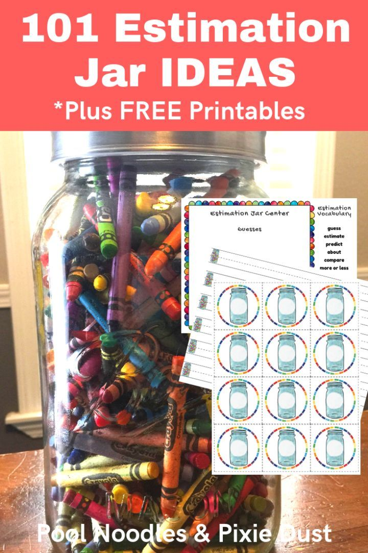101 Estimation Jar Ideas Pool Noodles Pixie Dust Homeschool Math Basic Math Skills Homeschool Projects