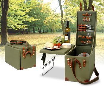 If you are planning for a romantic-date this weekend then how about going picnic with this ultra-suave Safari Picnic Box in tow! The stylish khaki green trunk has it all two of you will need to enjoy your picnic including two wine glasses (made of...