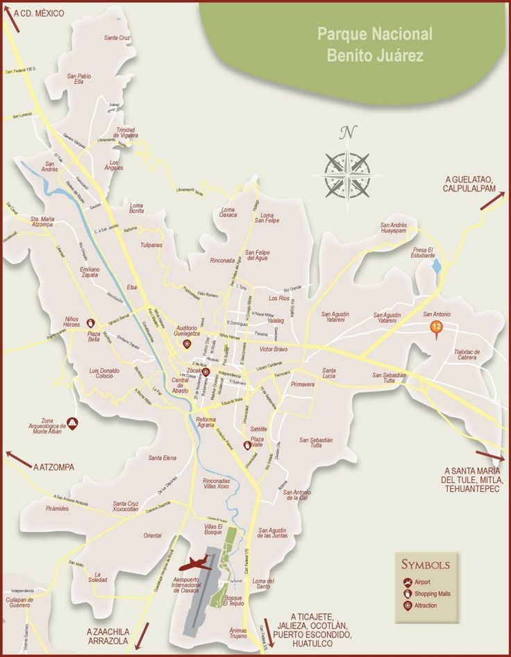 Oaxaca City tourist map