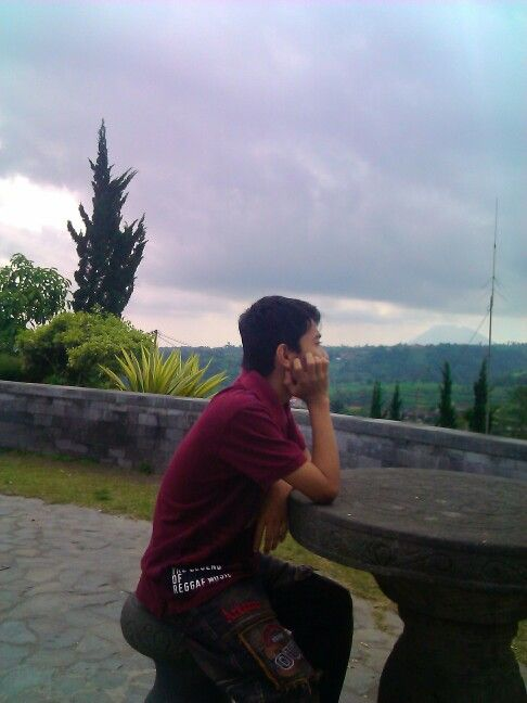 Old pict in merapi mount