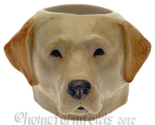 Yellow Labrador Retriever hand painted egg cup.