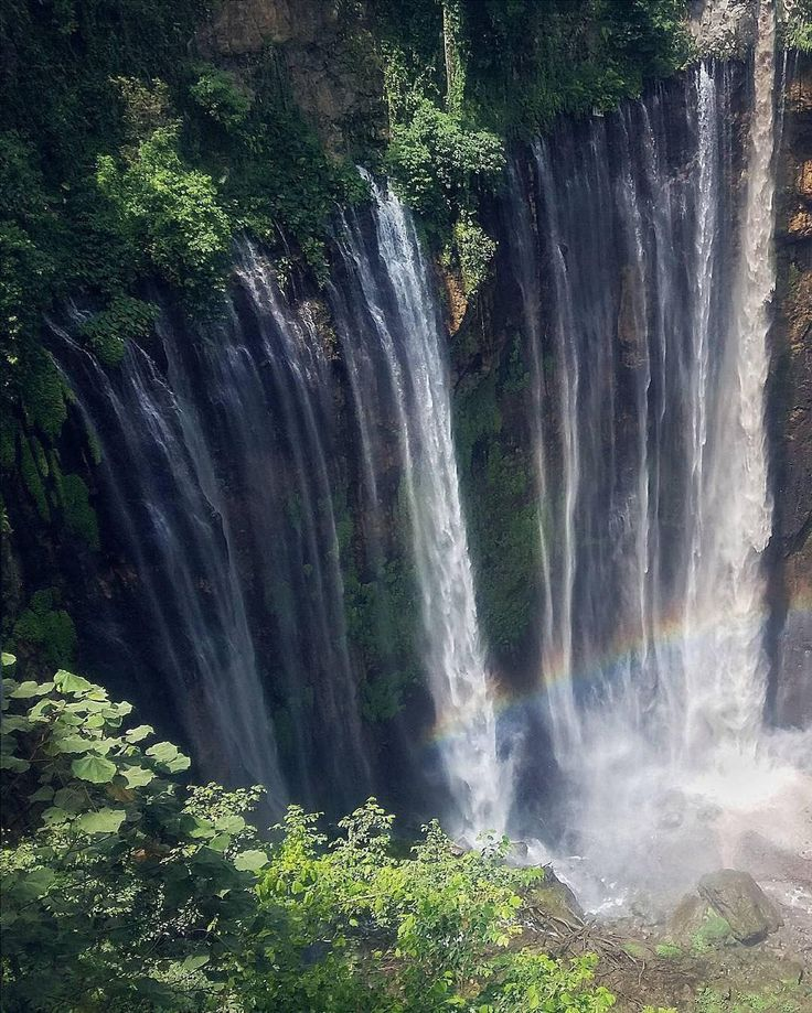 A hidden paradise in East Java, Coban Sewu waterfall, Indonesia   Photo by: Lutfi  IG: @kdr_photo_art