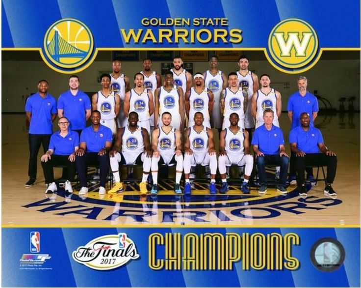 Golden State Warriors 2017 NBA Finals Champions Team Sit Down 8x10 Photo #PHOTOFILE #GoldenStateWarriors