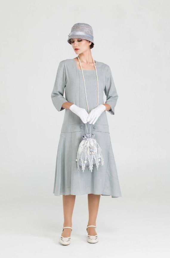 1920s Style Dresses 20s Dresses Lawn Party Dress Linen Dress Dresses
