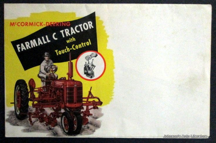 IH 1948 Farmall C Tractor Sales Brochure #A37LL