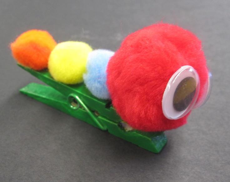 "The Very Hungry Pom Pom Caterpillar    Activity based on ""The Very Hungry Caterpillar"" by Eric Carle"