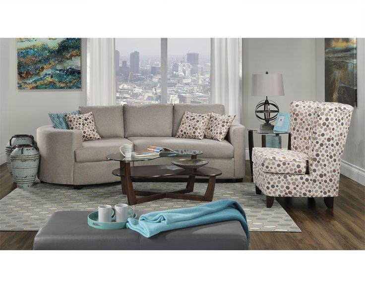 Living Room Furniture The Andrea Collection 2 Pc Sectional
