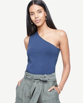 One shoulder sweater tank from Ann Taylor
