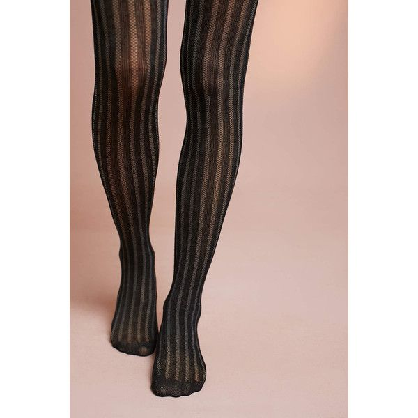 Pure + Good Marilyn Sheer Striped Tights ($24) ❤ liked on Polyvore featuring intimates, hosiery, tights, striped tights, transparent tights, stripe tights, sheer hosiery and sheer stockings