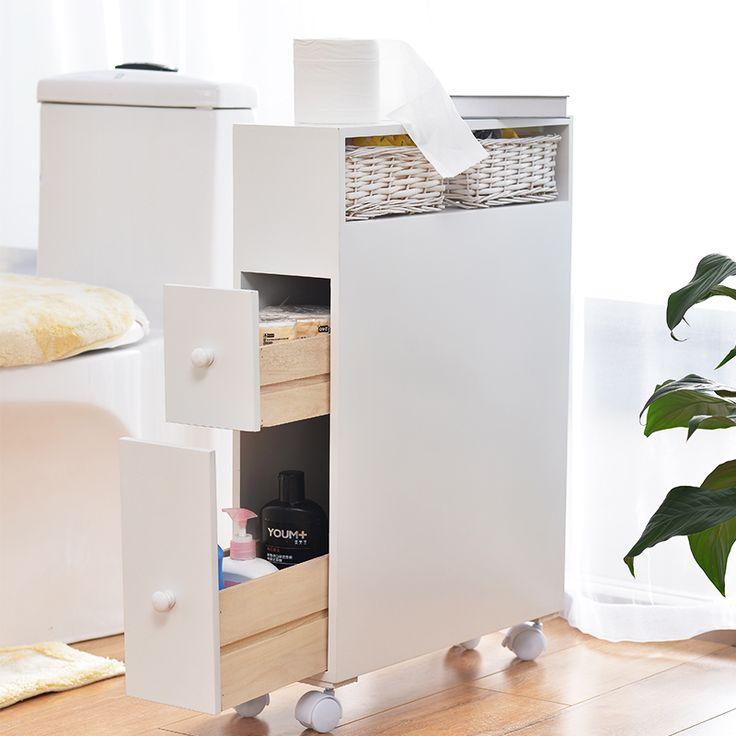 Дешевые насосная туалетная бумага туалетная сторона шкафа мобильные шкафчики шкаф шкафчик водонепроницаемый корпус пол в ванной комнате хранения - Taobao