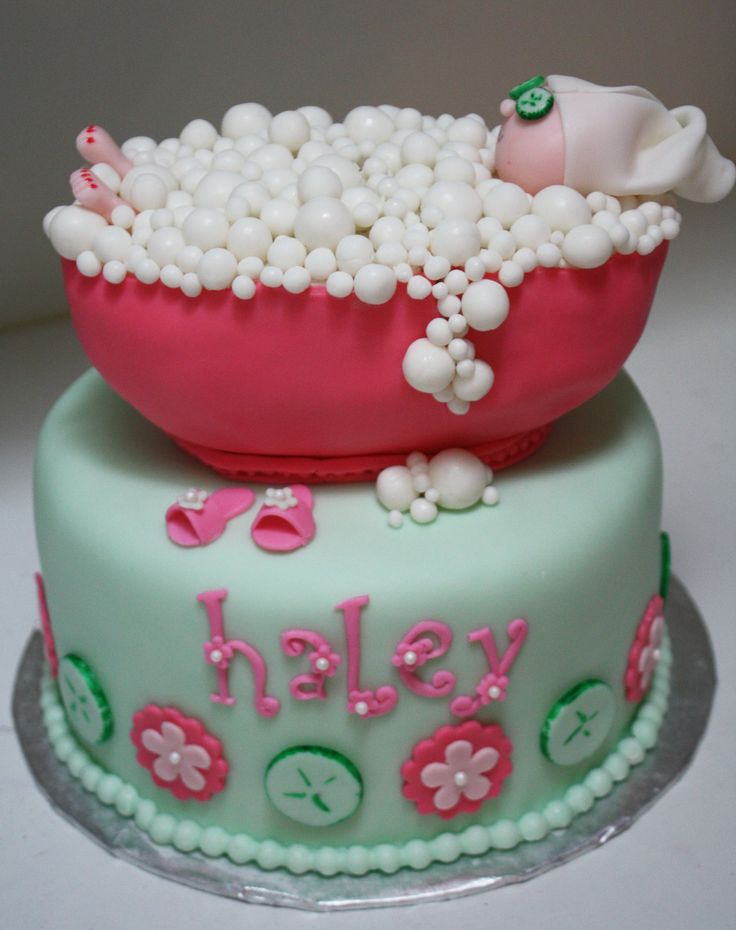Spa Party Bubble Bath Cake... Beau Party will organize your Spa Cake ! #pastel #grupomusicalolympus