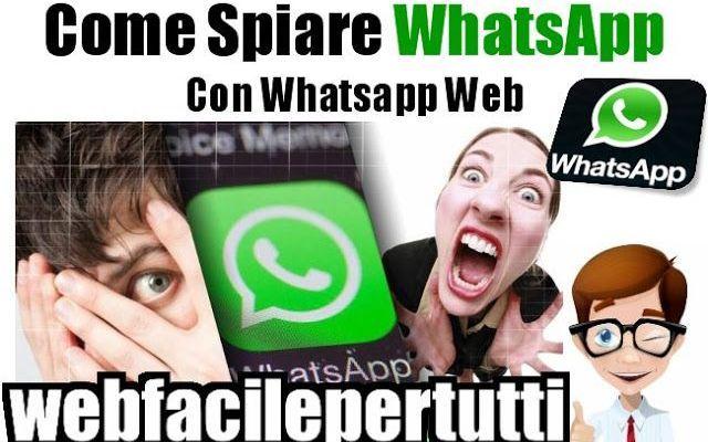 (Trucco) Come Spiare WhatsApp Con Whatsapp Web Spiare WhatsApp Con Whatsapp Web     La primissima cosa da fare, è quella più difficile, ovvero trovare una scusa per utilizzare il cellulare della vittima giusto per qualche secondo. Una volta che #whatsapp #spiarewhatsapp