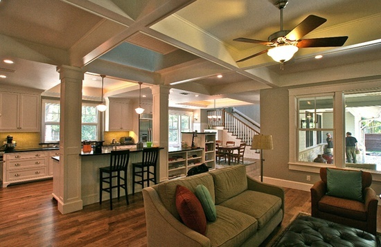 Craftsman bungalow interior this is amazing although i - What is a bungalow style home ...