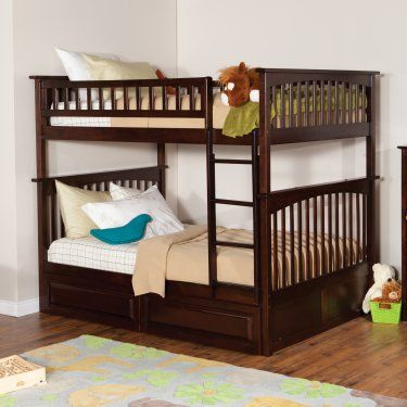 atlantic furniture columbia full over full bunk bed kids storage beds at hayneedle