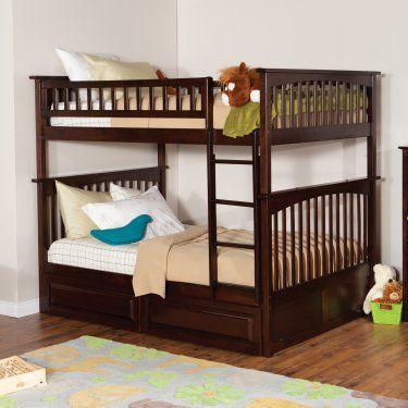 Atlantic Furniture Columbia Full over Full Bunk Bed - Kids Storage Beds at Hayneedle