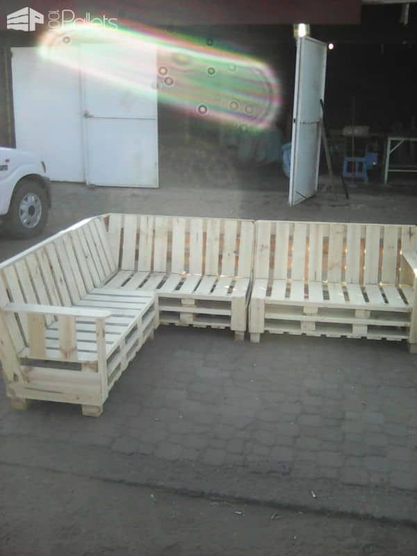 Pallet Sectional Sofa Pallet Benches Pallet Chairs Stoolspallet