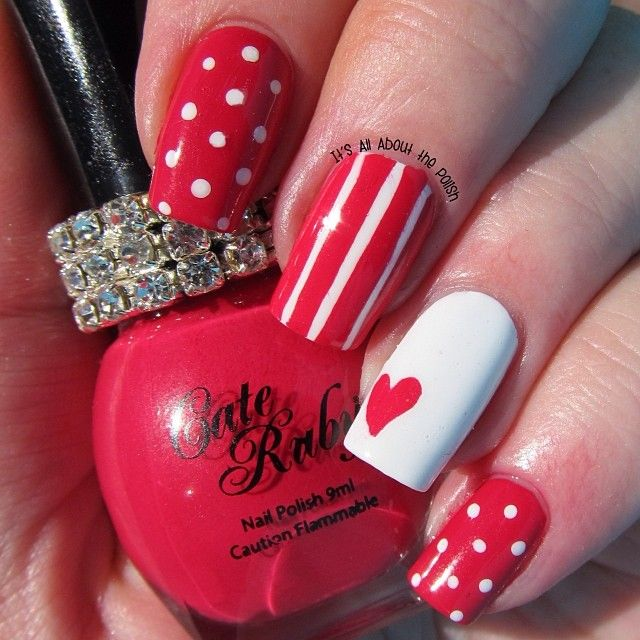 valentine by itsallaboutpolish #nail #nails #nailart