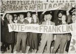 Franklin dam protesters at the Liberal Party Federal election campaign opening, Malvern Town Hall, Malvern, Victoria, February 1983 / Andrew Chapman