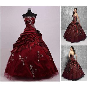 Masquerade Ball Gowns | ... Embroidery Masquerade Wedding Dress Bride Ball Gown Size Custom