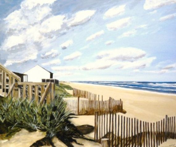 Seascape painting. Beach painting. Seaside painting. by lynnpaints, $700.00