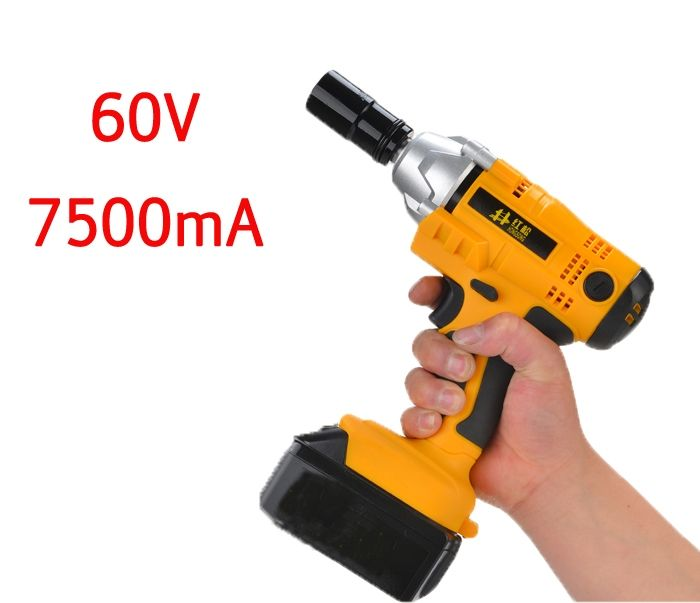 129.80$  Buy here - http://aliad9.worldwells.pw/go.php?t=32700060467 - 60V 7500mA electric  impact wrench lithium foot shelf industry woodworking electric wrench pneumatic 129.80$
