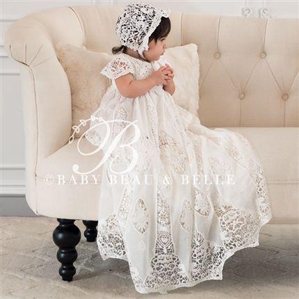 Grace Christening Gown (Girl) |  Baptism Clothes & Dresses - Fancy Gowns & Dresses