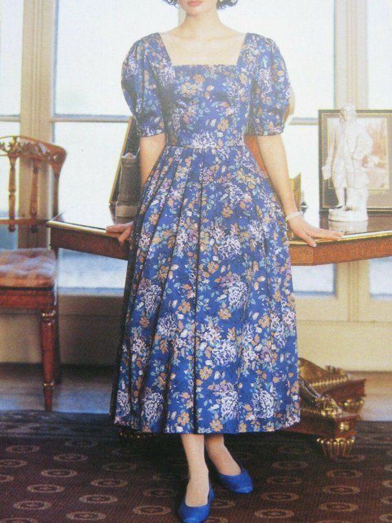 Laura Ashley Vintage 1990 Romantic Floral Cotton Sateen Etsy Dress Display Vintage Dresses Special Dresses