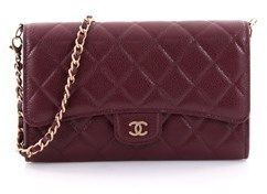 Chanel Pre-owned: Wallet With Chain Flap Quilted Caviar.
