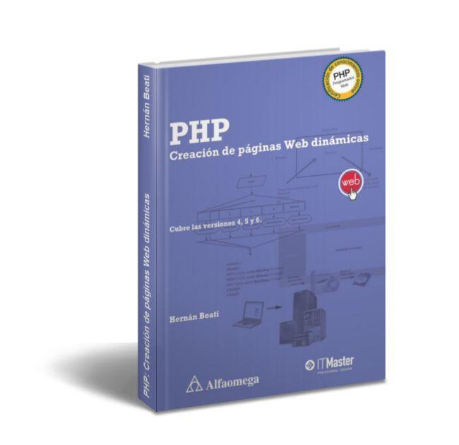 PHP: Creación de páginas Web dinámicas - Hernán Beati  Descargar Gratis PDF PHP: Creación de páginas Web dinámicas por Hernán Beati (Editorial Alfaomega)  En 1994 un programador nacido en Groenlandia llamado Rasmus Lerdorf (http://lerdorf.com) desarrolló un código que le ayudaría a crear su página Web personal de manera más sencilla. Lo llamó Personal Home Page Tools (PHP Tools) o herramientas para páginas Iniciales personales. De las primeras tres palabras en inglés surge el nombre del…