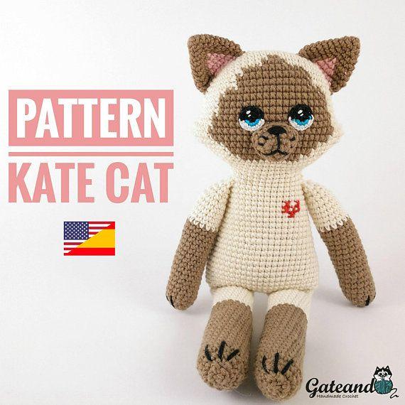 Amigurumi Cat pattern https://www.etsy.com/es/listing/601279169/patron-amigurumi-gato-kate-cat-pdf