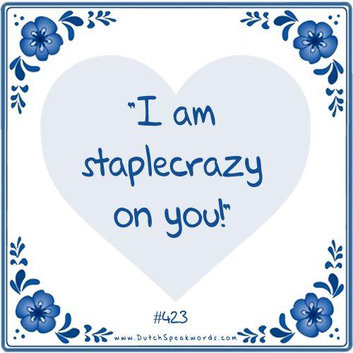 Dutch expressions in English: stapelverliefd #dutchdating