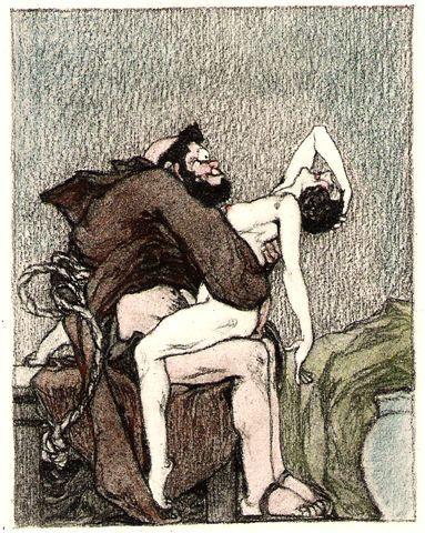 Resultado de imagem para nun and priest having sex art paint