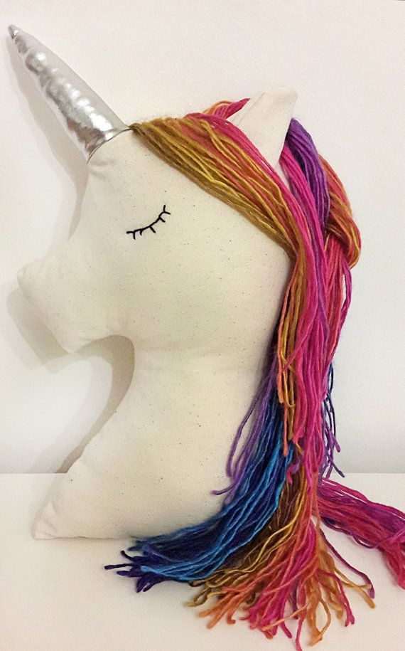 Unicorno cuscino nursery decor unicorno arcobaleno di missJoyka